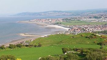 Rhos on Sea from Little Orme. Walkable from Lymehurst b&b accommodation Llandudno on the North Wales Coast.